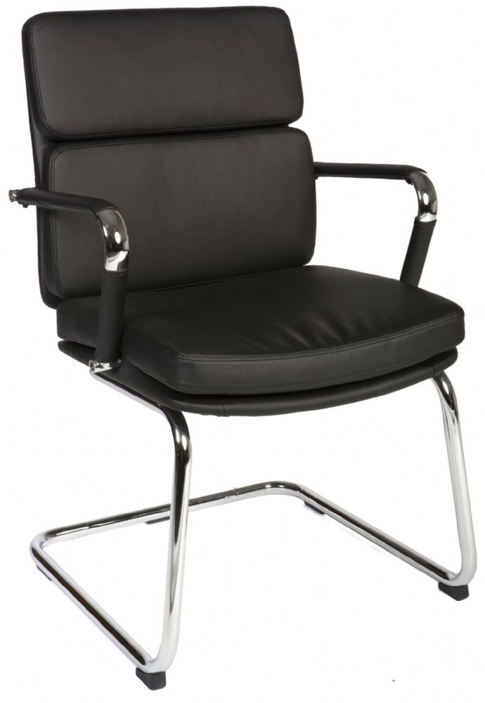 TEKNIK DECO VISITOR Comfortable Reception Chair In Faux Leather